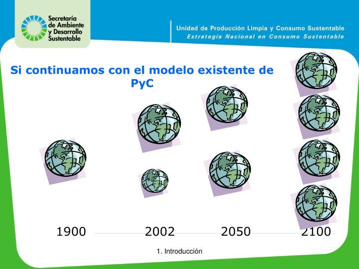 Si continuamos con el modelo existente de PyC
