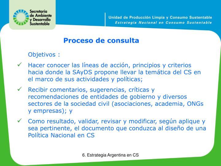 Proceso de consulta