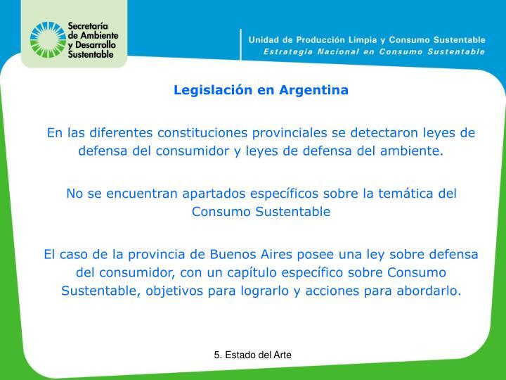 Legislación en Argentina