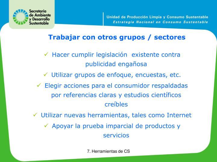 Trabajar con otros grupos / sectores