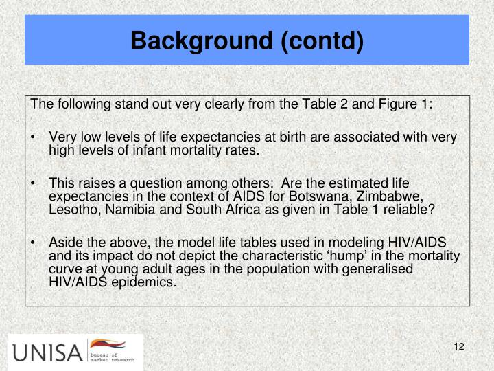 The following stand out very clearly from the Table 2 and Figure 1: