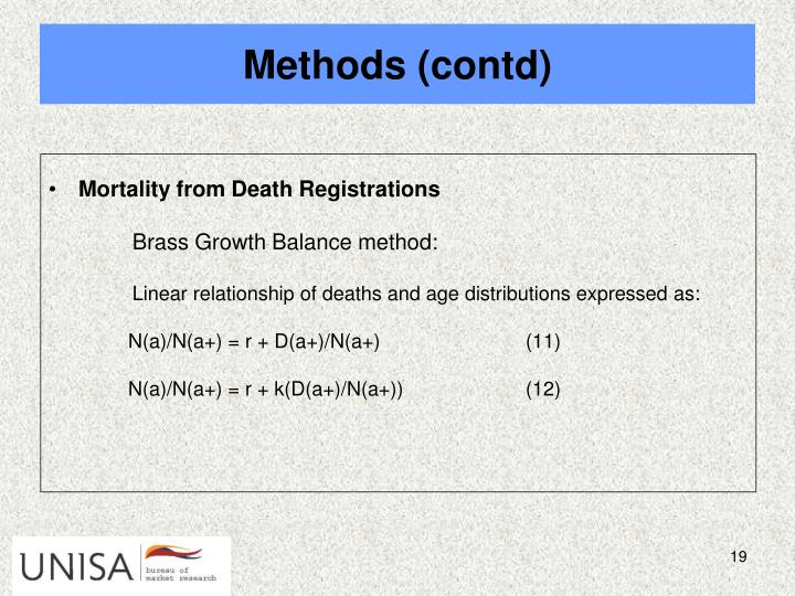 Mortality from Death Registrations