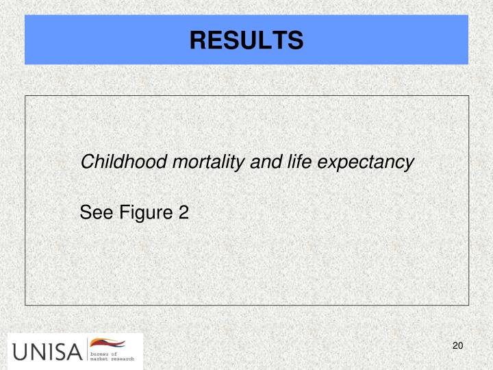 Childhood mortality and life expectancy