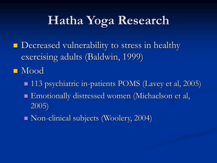 Hatha Yoga Research