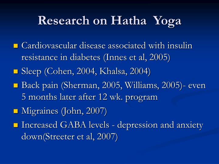 Research on Hatha  Yoga