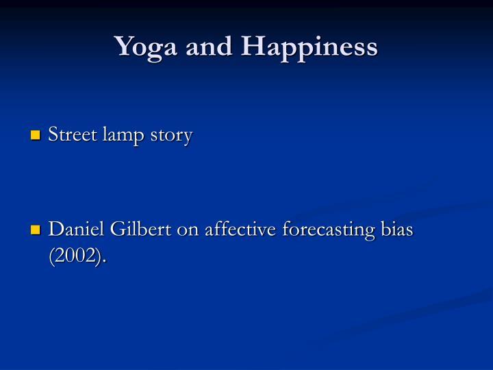 Yoga and Happiness