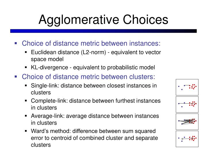 Agglomerative Choices