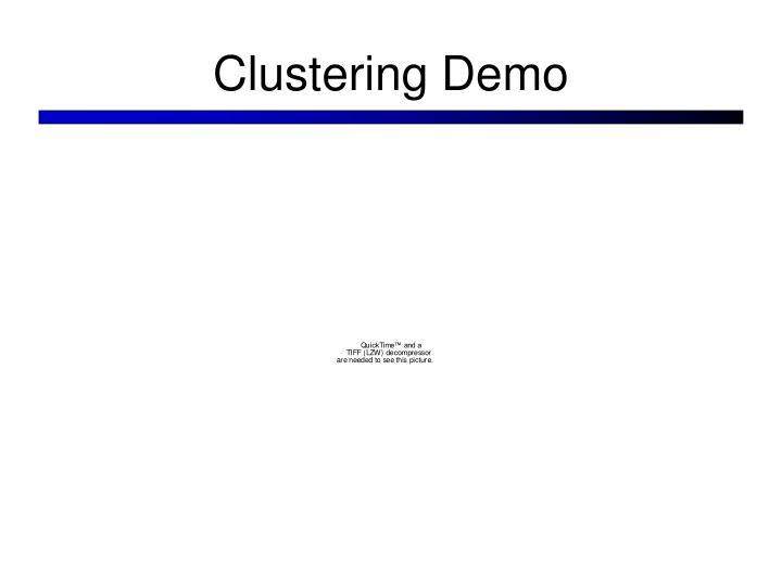 Clustering Demo