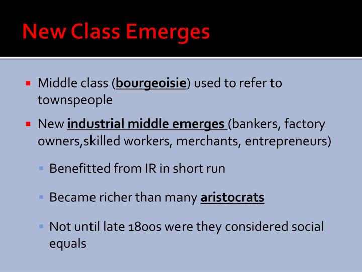 New Class Emerges