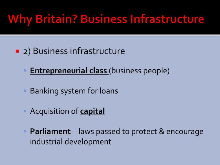 Why Britain? Business Infrastructure