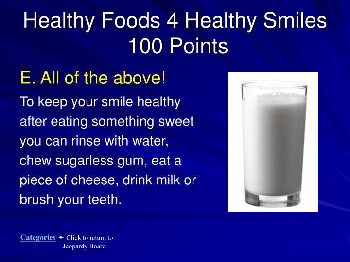 Healthy Foods 4 Healthy Smiles