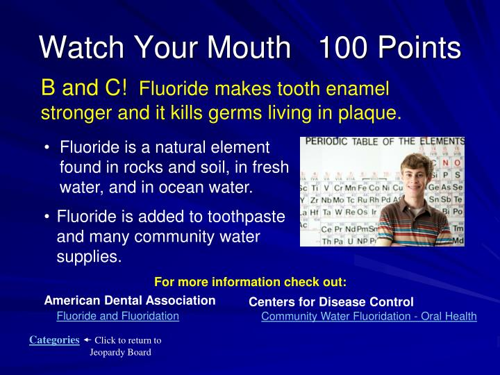 Watch Your Mouth   100 Points