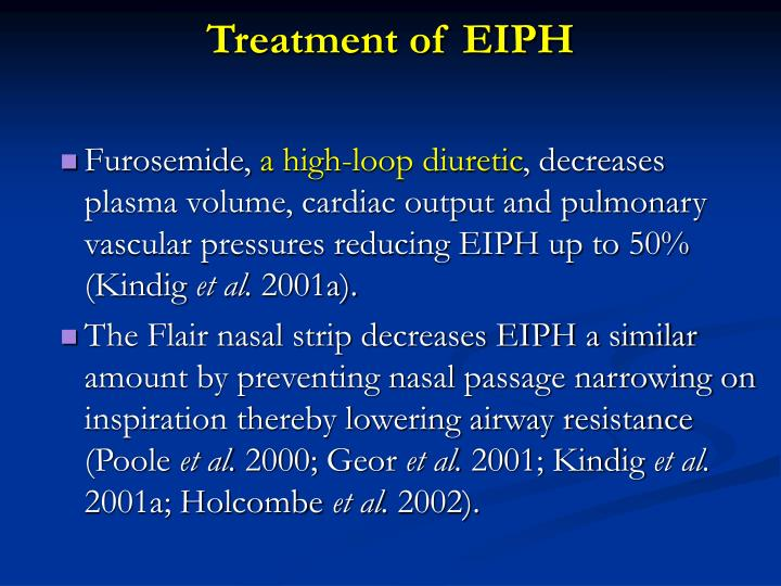 Treatment of EIPH
