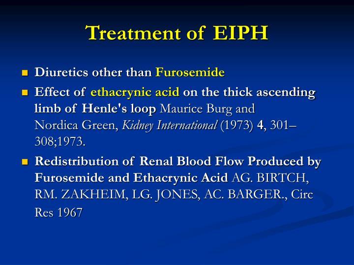 Treatment of EIPH