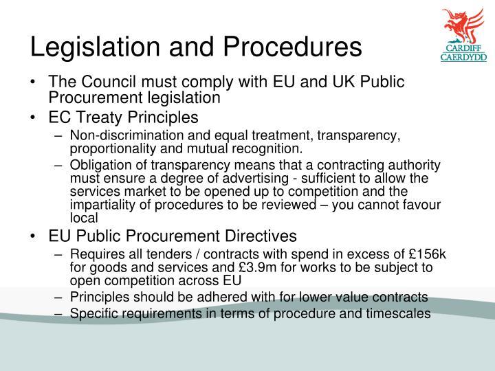 Legislation and Procedures