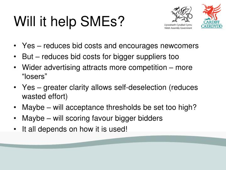 Will it help SMEs?