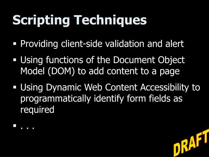 Scripting Techniques