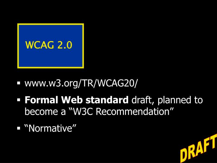 WCAG 2.0