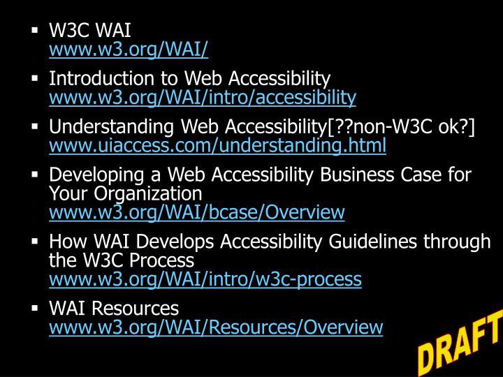 W3C WAI