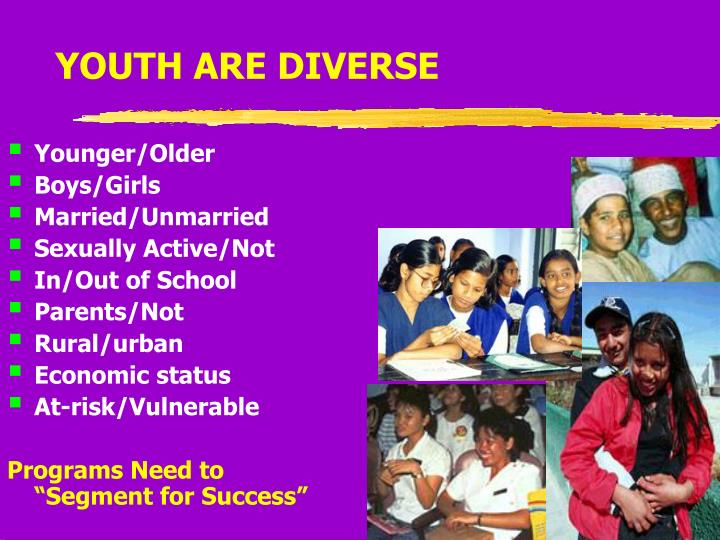 YOUTH ARE DIVERSE