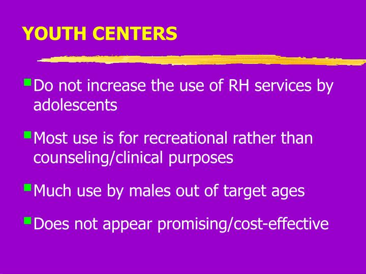 YOUTH CENTERS