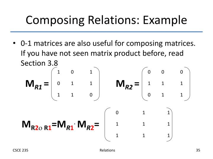 Composing Relations: Example