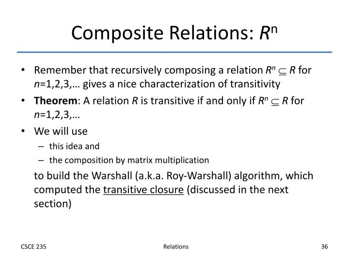 Composite Relations: