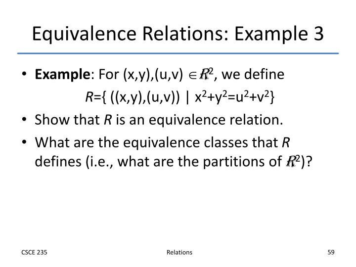 Equivalence Relations: Example 3