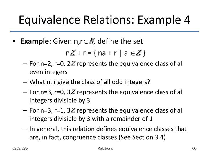 Equivalence Relations: Example 4