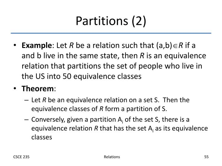 Partitions (2)