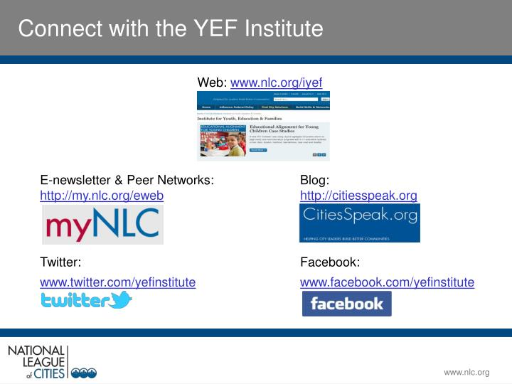Connect with the YEF Institute