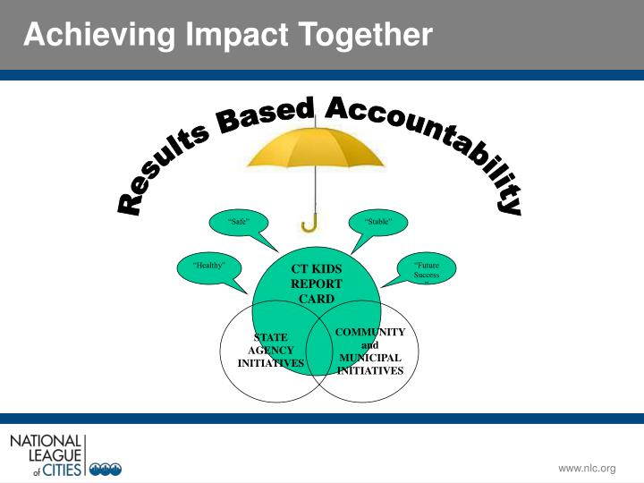 Achieving Impact Together
