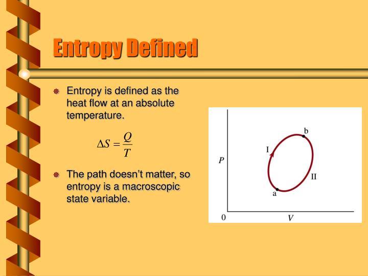 Entropy Defined