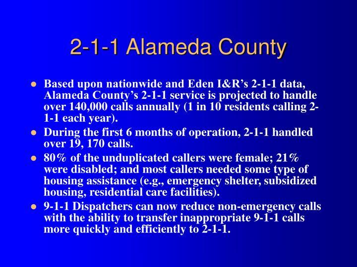 2-1-1 Alameda County