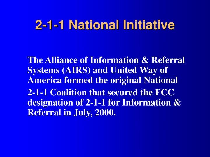 2-1-1 National Initiative
