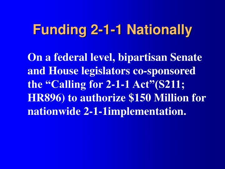 Funding 2-1-1 Nationally