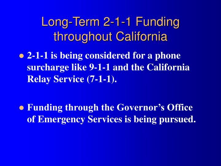 Long-Term 2-1-1 Funding
