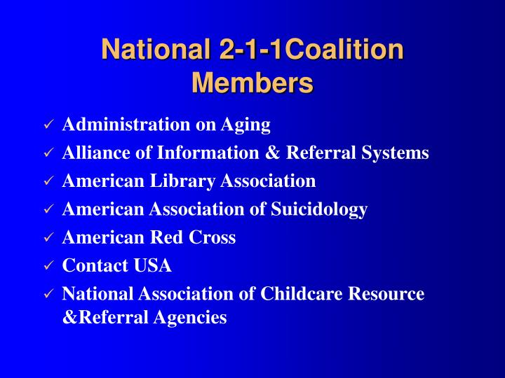 National 2-1-1Coalition Members