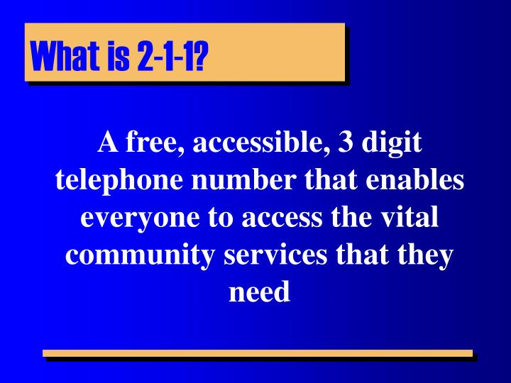 What is 2-1-1?