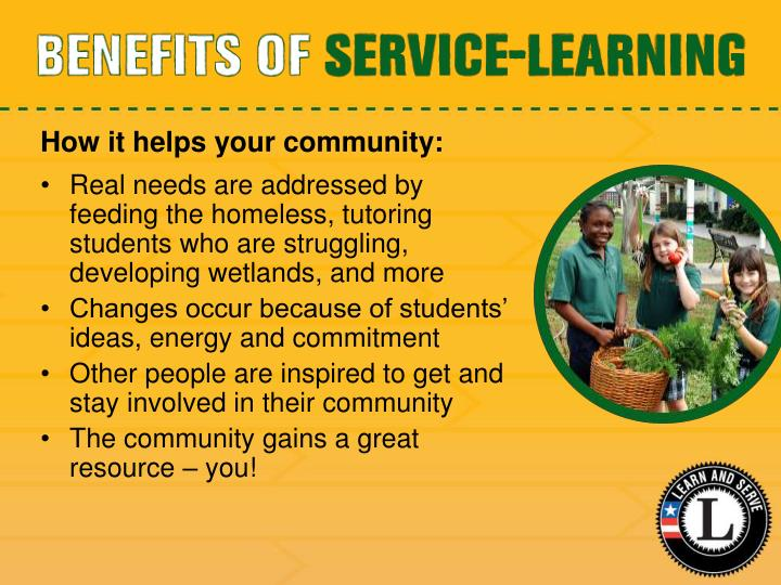 How it helps your community: