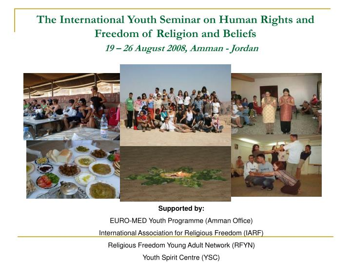The International Youth Seminar on Human Rights and Freedom of Religion and Beliefs