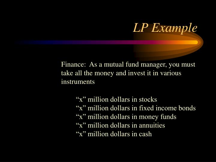 LP Example