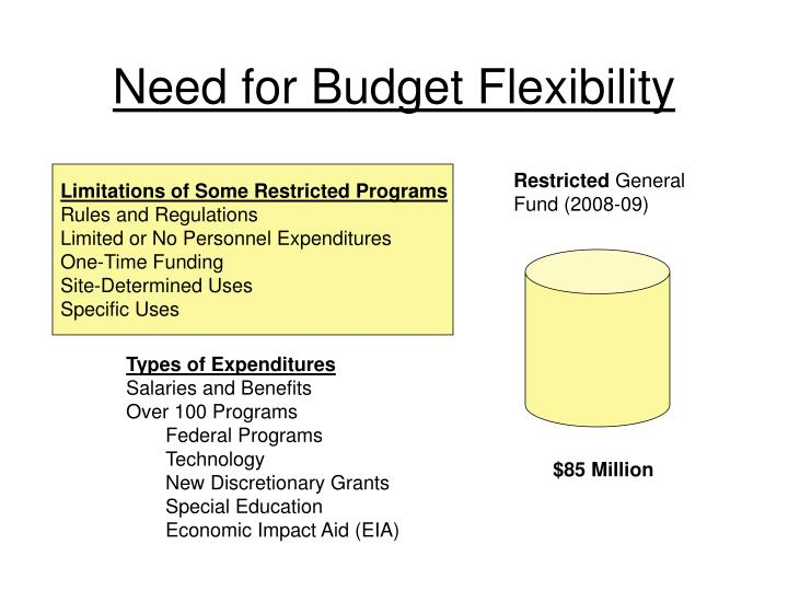 Need for Budget Flexibility