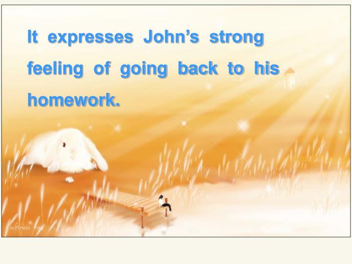It  expresses  John's  strong