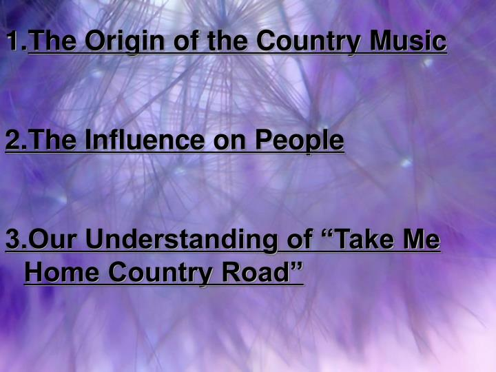The Origin of the Country Music