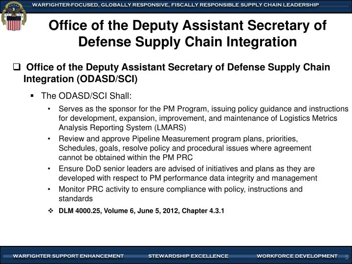 Office of the Deputy Assistant Secretary of Defense Supply Chain Integration