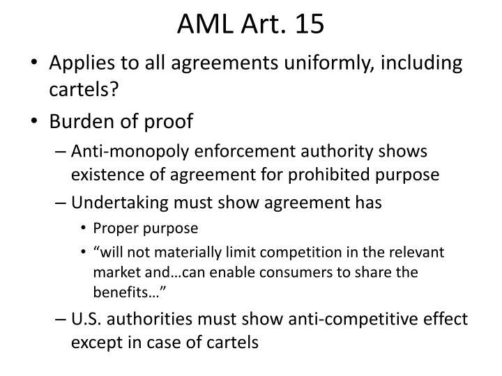 AML Art. 15