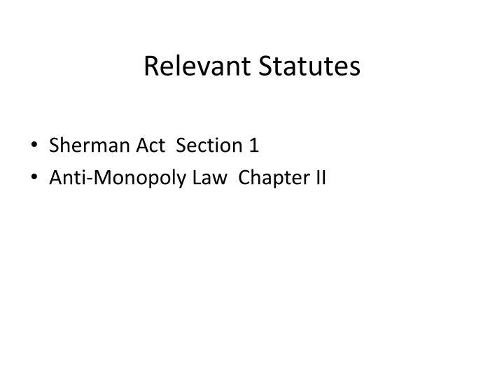 Relevant Statutes