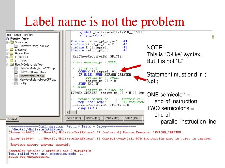 Label name is not the problem