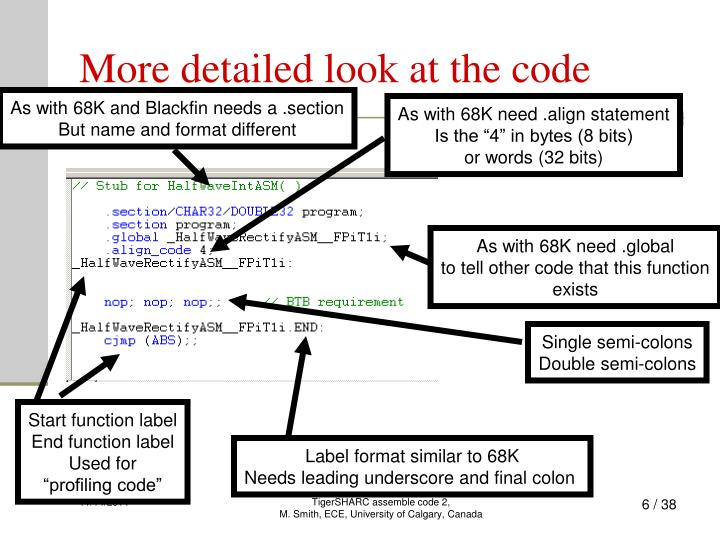 More detailed look at the code